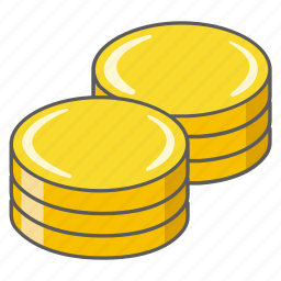account, balance, chips, coins, credit, currency icon