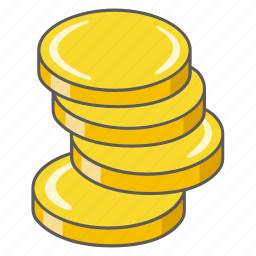 account, balance, chips, coins, credit, gambling, money icon