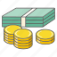 balance, banknote, cash, coins, currency, dollars, money icon