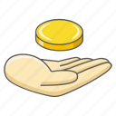 cash, charity, donation, gift, give, money, support icon