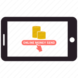 charity, love, mobile, online money send, online shopping, sms icon