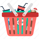 basket, full, shopping, shopping basket, buying icon