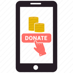 charity, donate, love, mobile, online dating, sms icon
