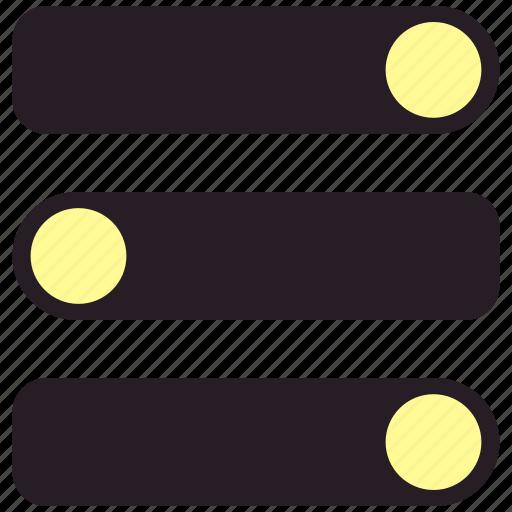 control, equlizer, gear, settings icon