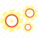 gear, maintenance, technical service icon