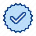 approved, check, confirm, done, label, mark, sticker icon icon