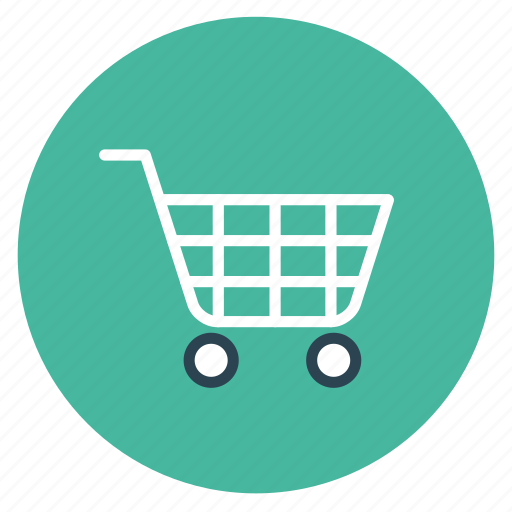 cart, ecommerce, flat design, online, round, sale, shopping icon