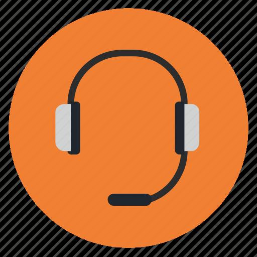 customer, earphone, headset, service icon