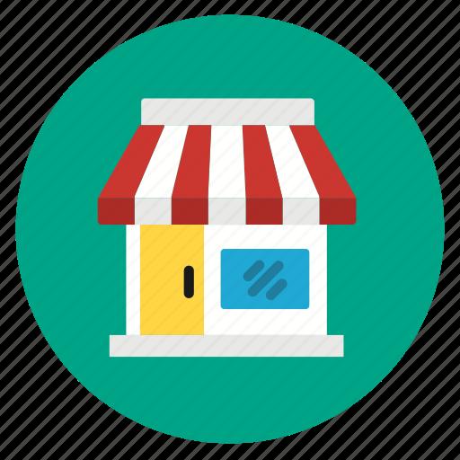 flat design, online, retail, round, shop, shopping, store icon