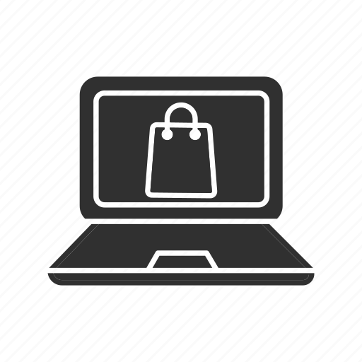 laptop, online shopping, purchase, shop icon