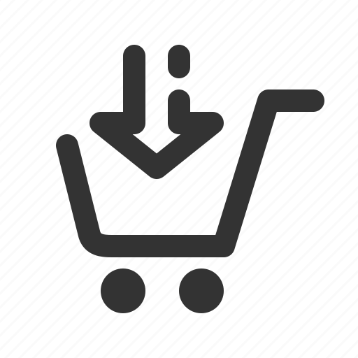 arrow, buy, cart, checkout, download, ecommerce, shopping icon