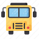 bus, school, transportation, travel, vehicle icon
