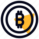 bitcoin, coin, cryptocurrency, finance, payment icon
