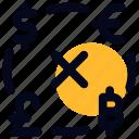 bitcoin+, currency, dollar, euro, exchange, pound icon