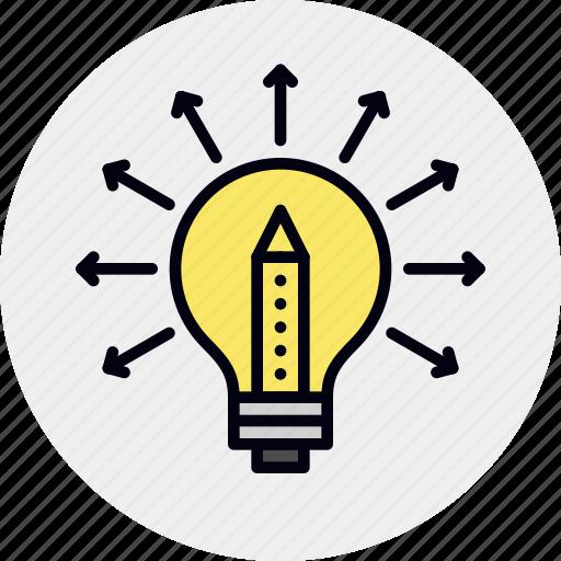 creative, ideas, share, sharing icon