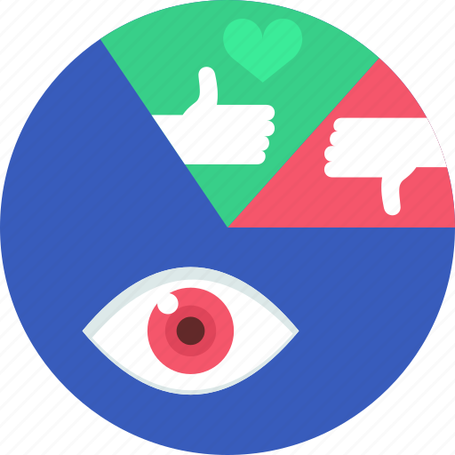 analytics, chart, favorite, graph, like, pie, views icon