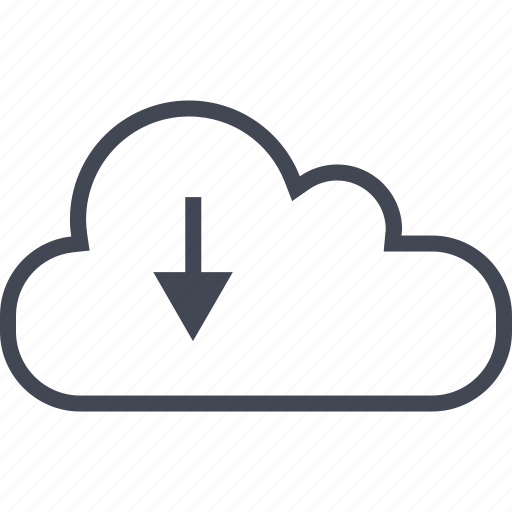 activity, arrow, cloud, download icon