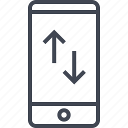 activity, arrows, cell, internet, phone icon