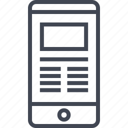 cell, mockup, online, phone, web icon