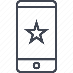 bookmark, cell, phone, special icon