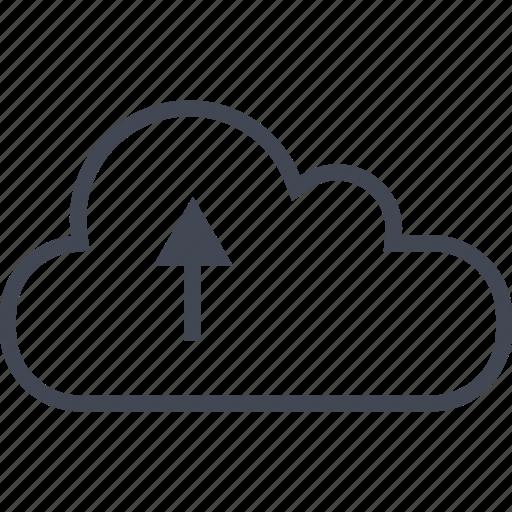 arrow, cloud, up, upload icon