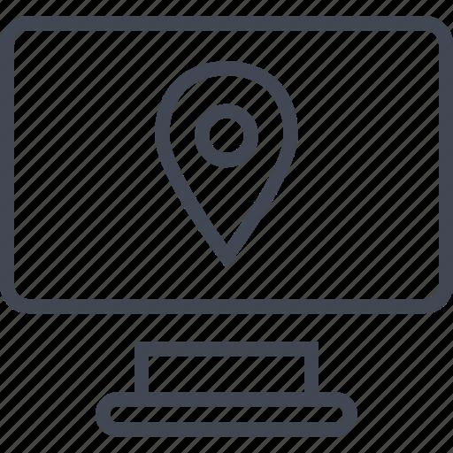 computer, find, gps, imac, locaiton, mac, screen icon