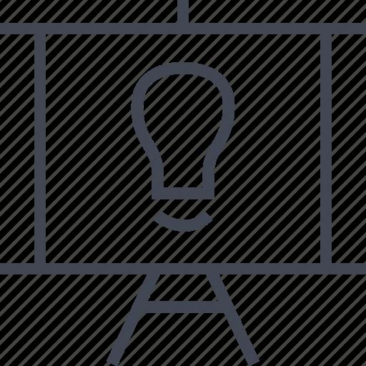 board, bulb, light, presentation icon