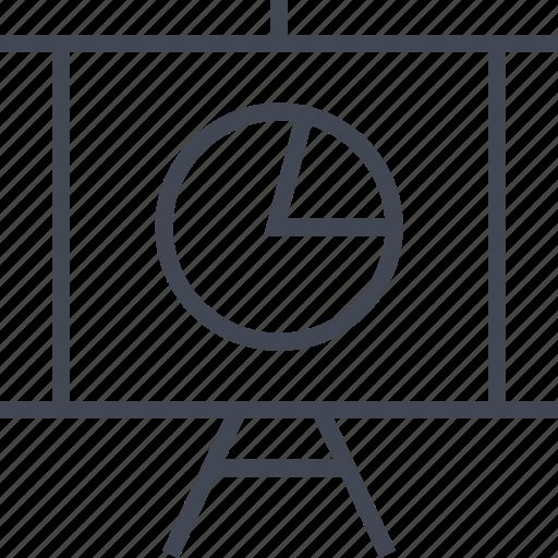 chart, graph, presentation, report icon
