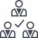 check, group, mark, ok, team icon