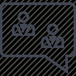 chat, friends, profile, talk, user icon