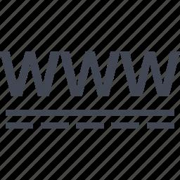 online, visit, web, www icon