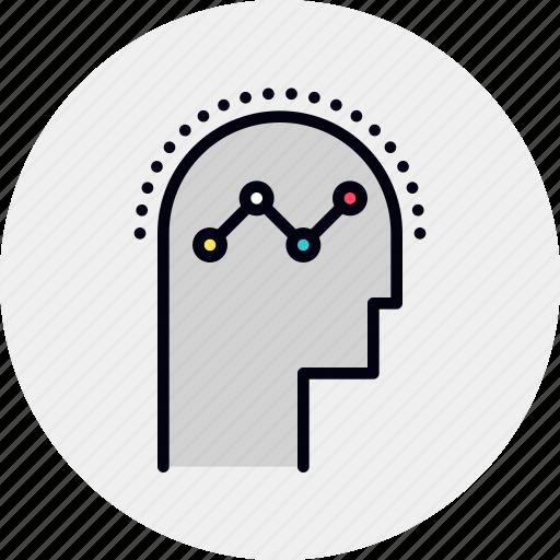 analytical, brain, human, performance, progress, thinking, training icon