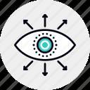 range, supervision, surveillance, view icon