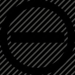 cancel, circle, close, delete, less, remove, trash icon