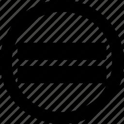 equal, like, result, resulting, same, sign icon