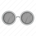 fashion, sunglasses, cartoon, design, old, round, cool