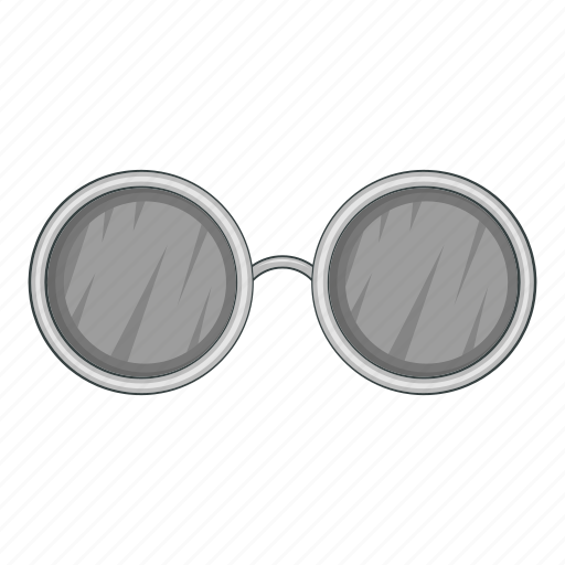 cartoon, cool, design, fashion, old, round, sunglasses icon
