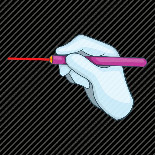 cartoon, design, eye, laser, lasik, procedure, surgery icon