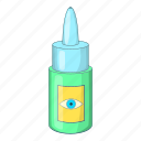 eye, medical, drop, design, bottle, cartoon, vision