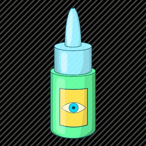 bottle, cartoon, design, drop, eye, medical, vision icon