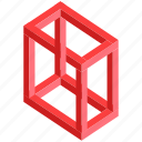 deception, hypnotic, illusion, magical, optical illusion, paradox, riddle icon
