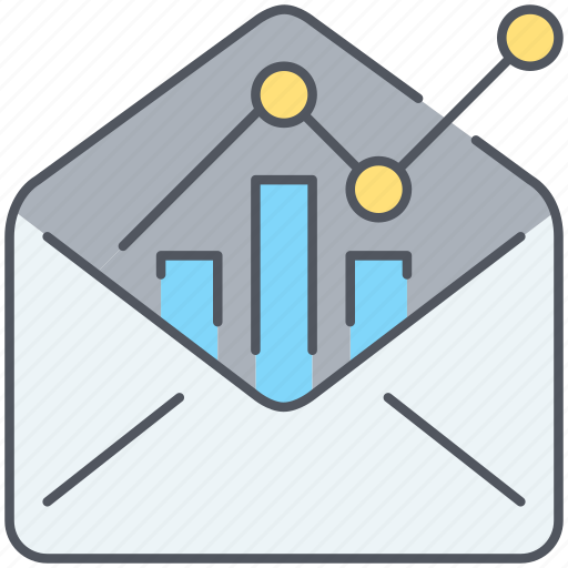email, email marketing, email stats, marketing, message, newsletter, online icon