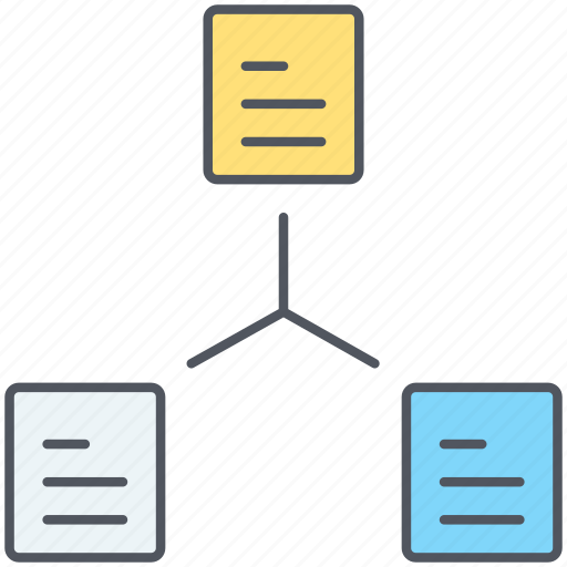 crawler, data, files, flowchart, search engine, sitemap, wireframe icon