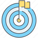 aim, bullseye, center, milestone, milestones, seo, target icon