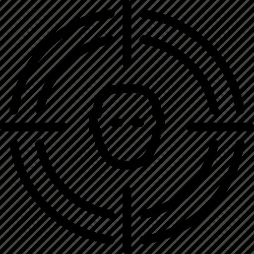 seo, target, target group, user, user targeting icon