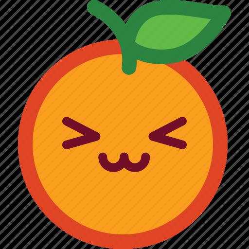 cute, emoji, emoticon, funny, orange, smile icon