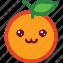 cute, emoji, emoticon, funny, happy, orange, smile icon