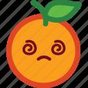 confused, cute, emoji, emoticon, funny, orange