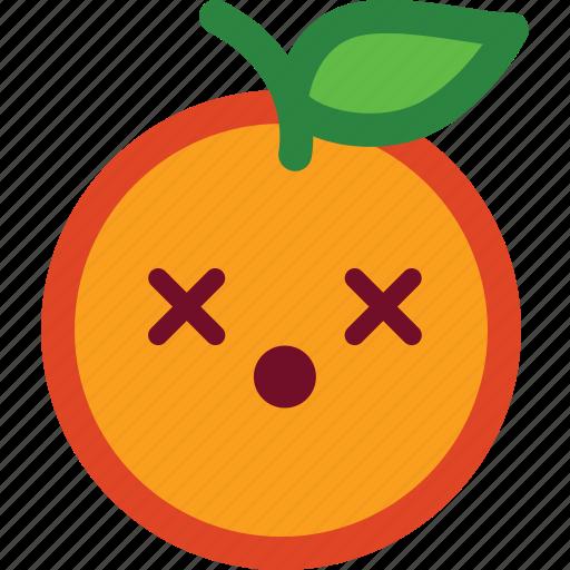 amazed, cute, emoji, emoticon, funny, orange, shocked icon