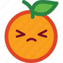 cute, emoji, emoticon, funny, orange icon